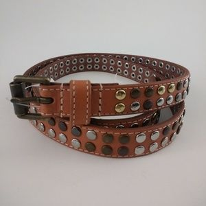 Banana Republic Skinny Studded Leather Belt, Small